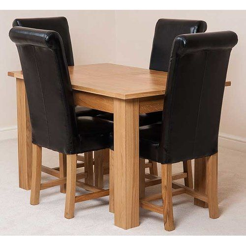 Pleasing Red Barrel Studio Warrior Kitchen Dining Set With 4 Chairs Machost Co Dining Chair Design Ideas Machostcouk