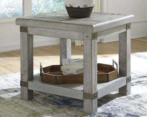 Carynhurst White Wash Gray Rectangular End Table End Tables How To Clean Furniture Table Tops And Bases