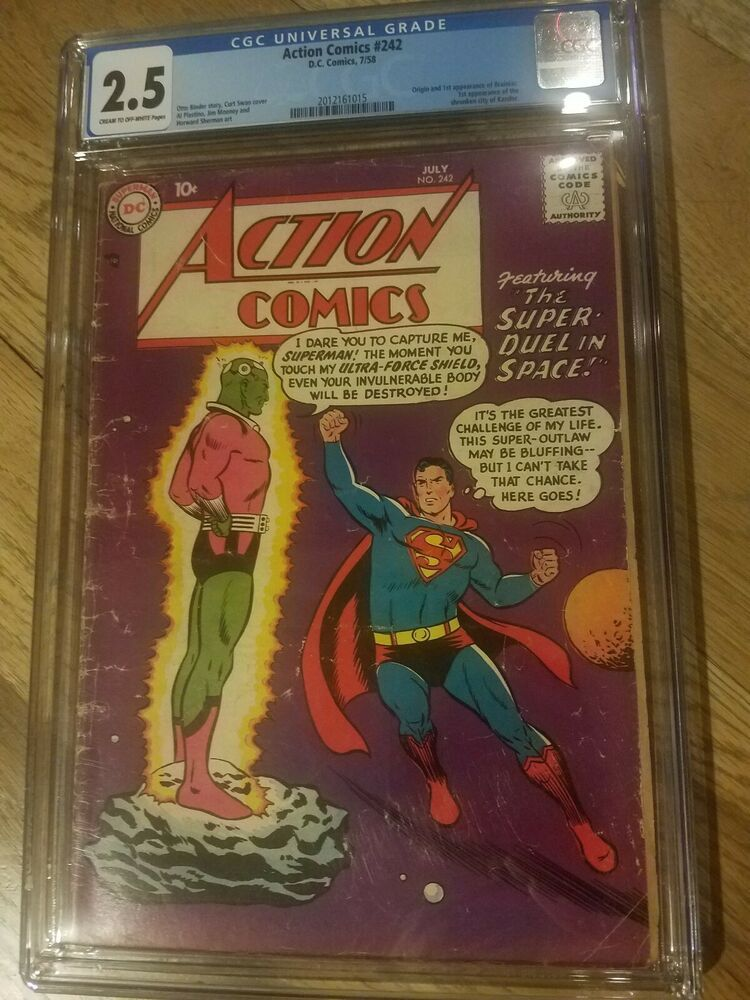 Action Comics 242 CGC 2 5 First Brainiac! Mega Key! | Bronze, Silver