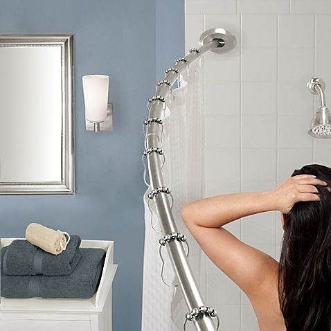 Buy The Gripper Easy Install Adjustable Curved Shower Rod In Brushed Nickel  From At Bed Bath U0026 Beyond. The Gripper Adjustable Curved Shower Rod Adjusts  From ...