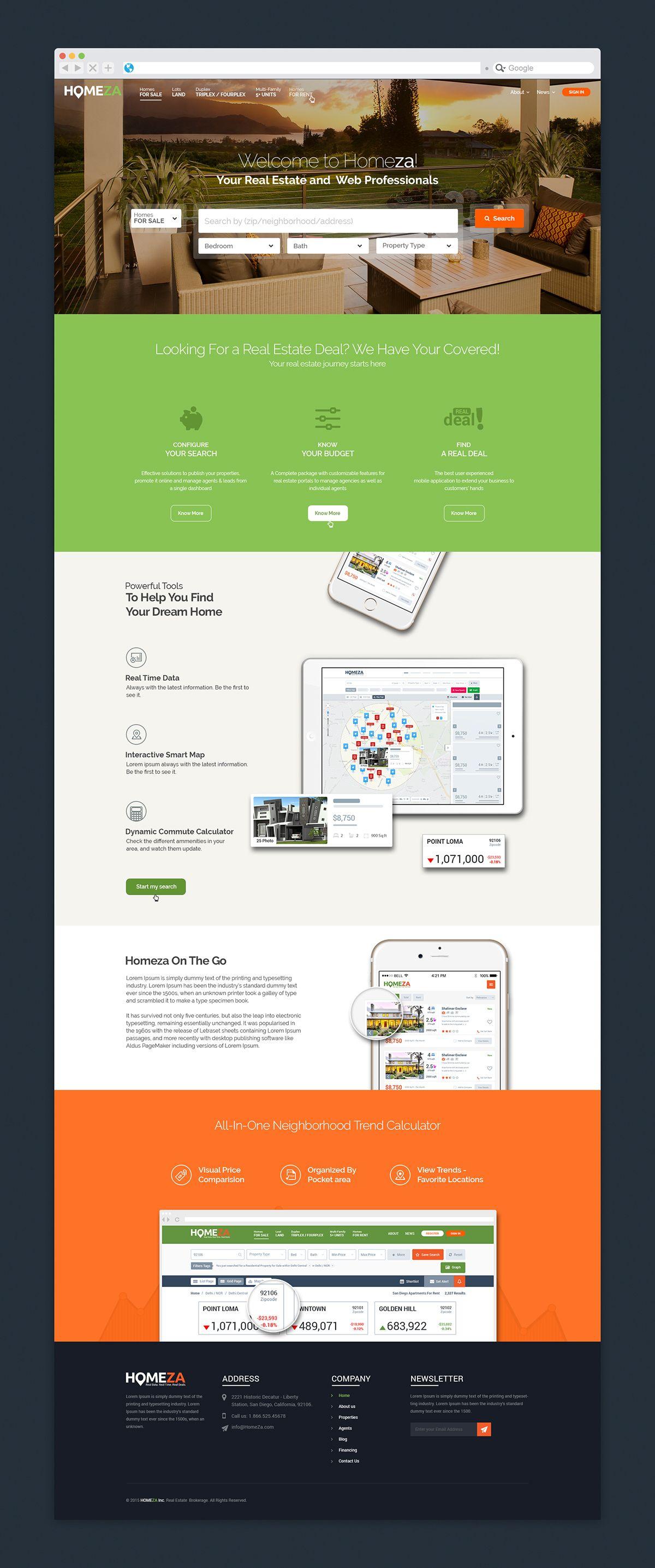 Real Estate Website Design And Development Real Estate Website Design Mobile Development Real Estate Website
