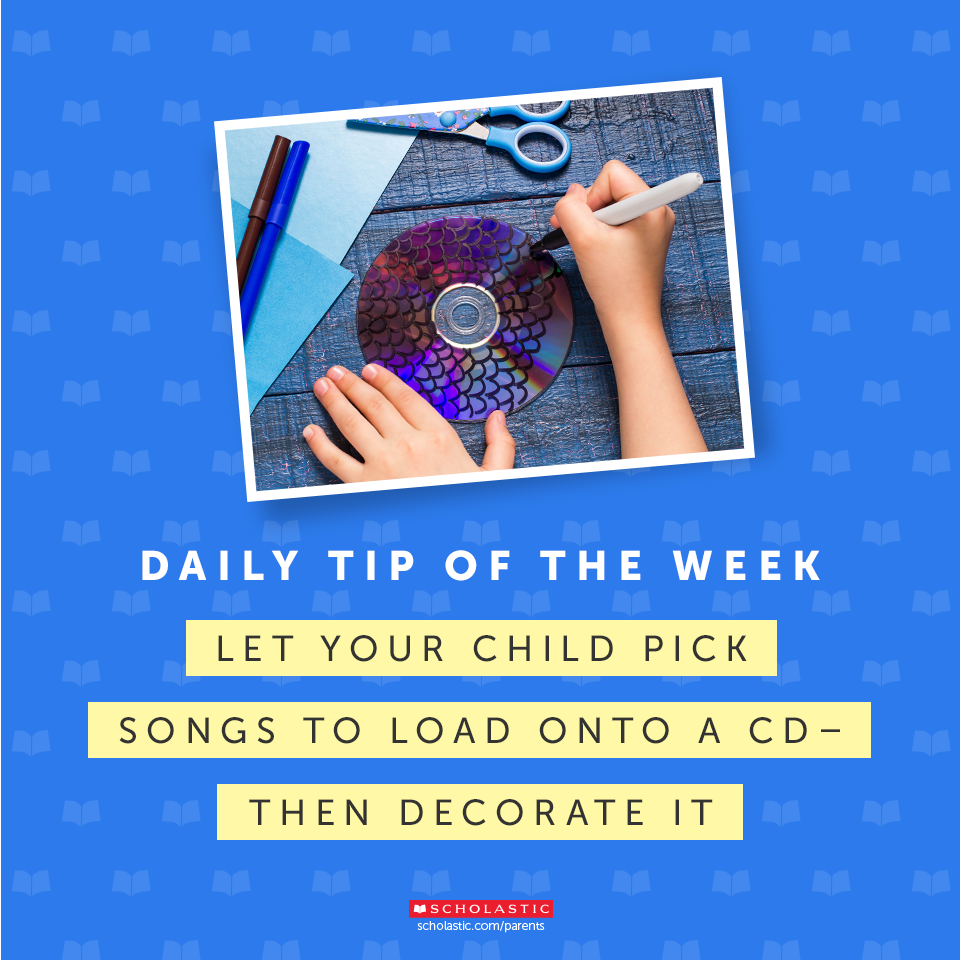 Let your child play DJ by creating a playlist from your