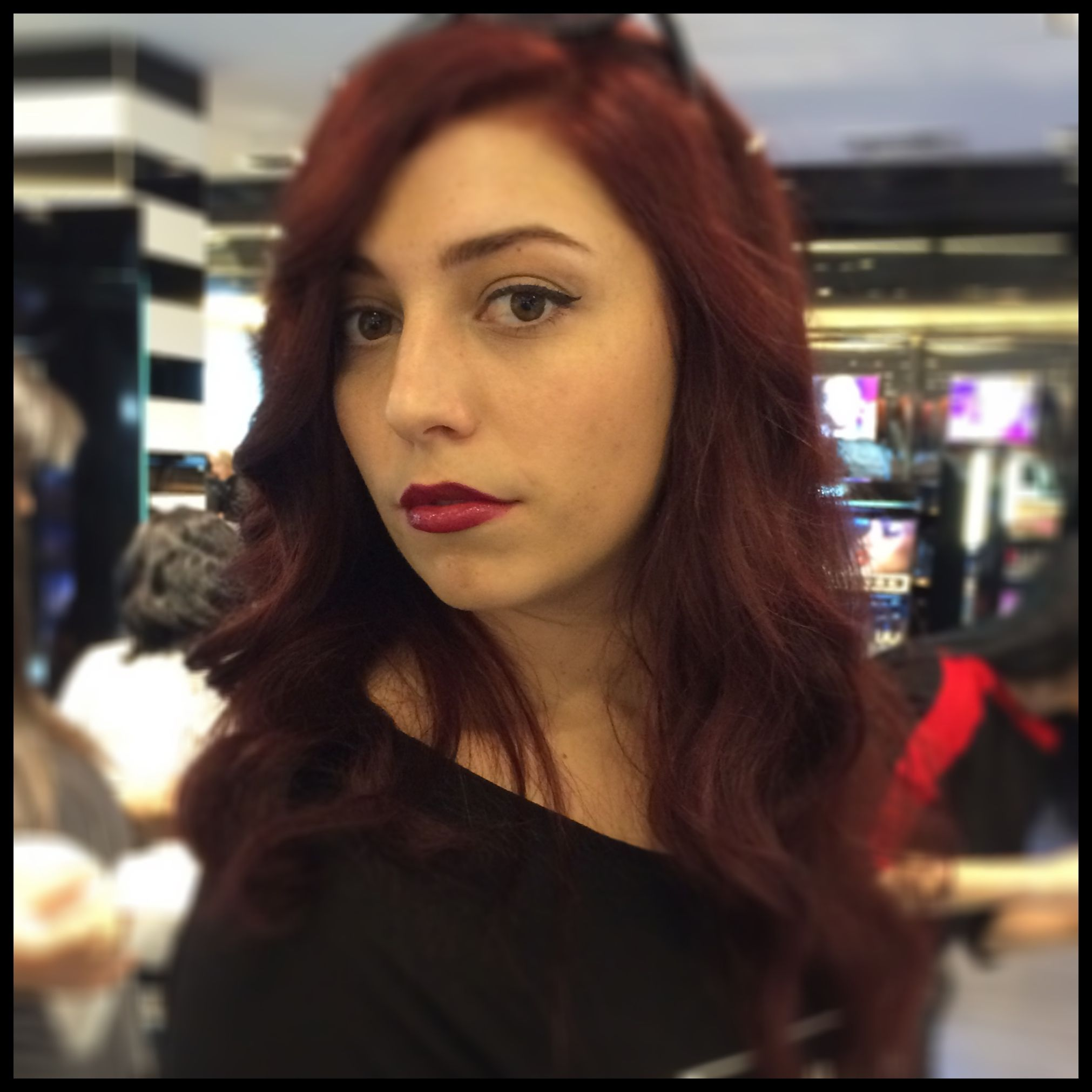 Merlot hair color - My Good Friend Kelly Recently Changed Her Hair Color To This Sort Of Merlot Purplish