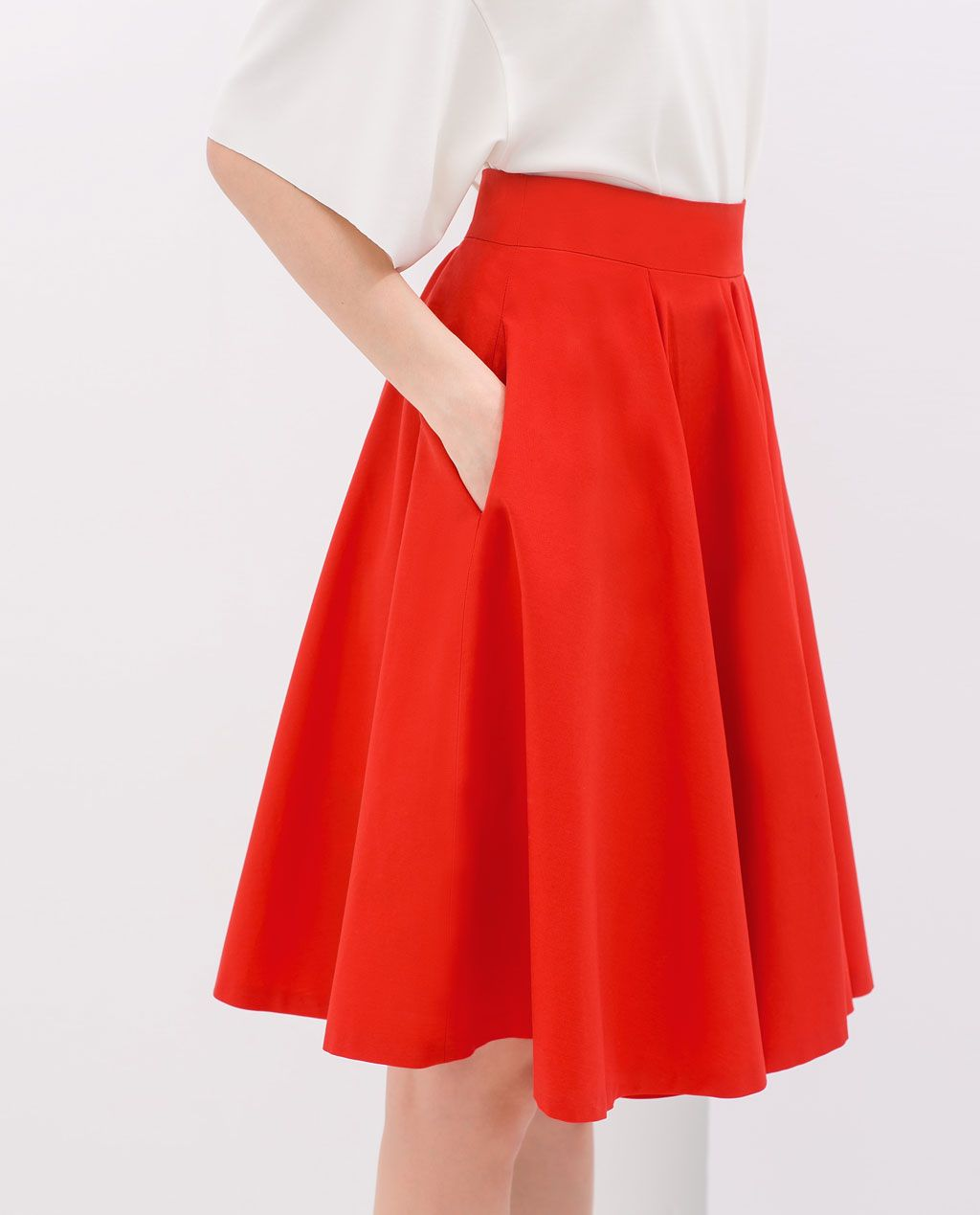 885f7650ecaad Image 6 of FLARED SKIRT from Zara