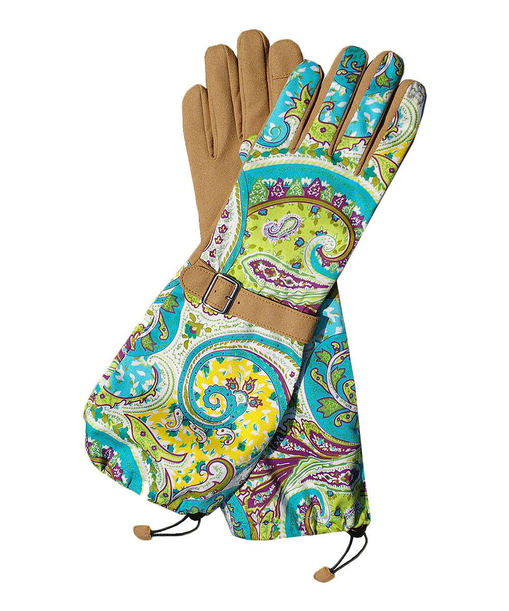 Take a look at this Teal Paisley Faux Leather Gloves on