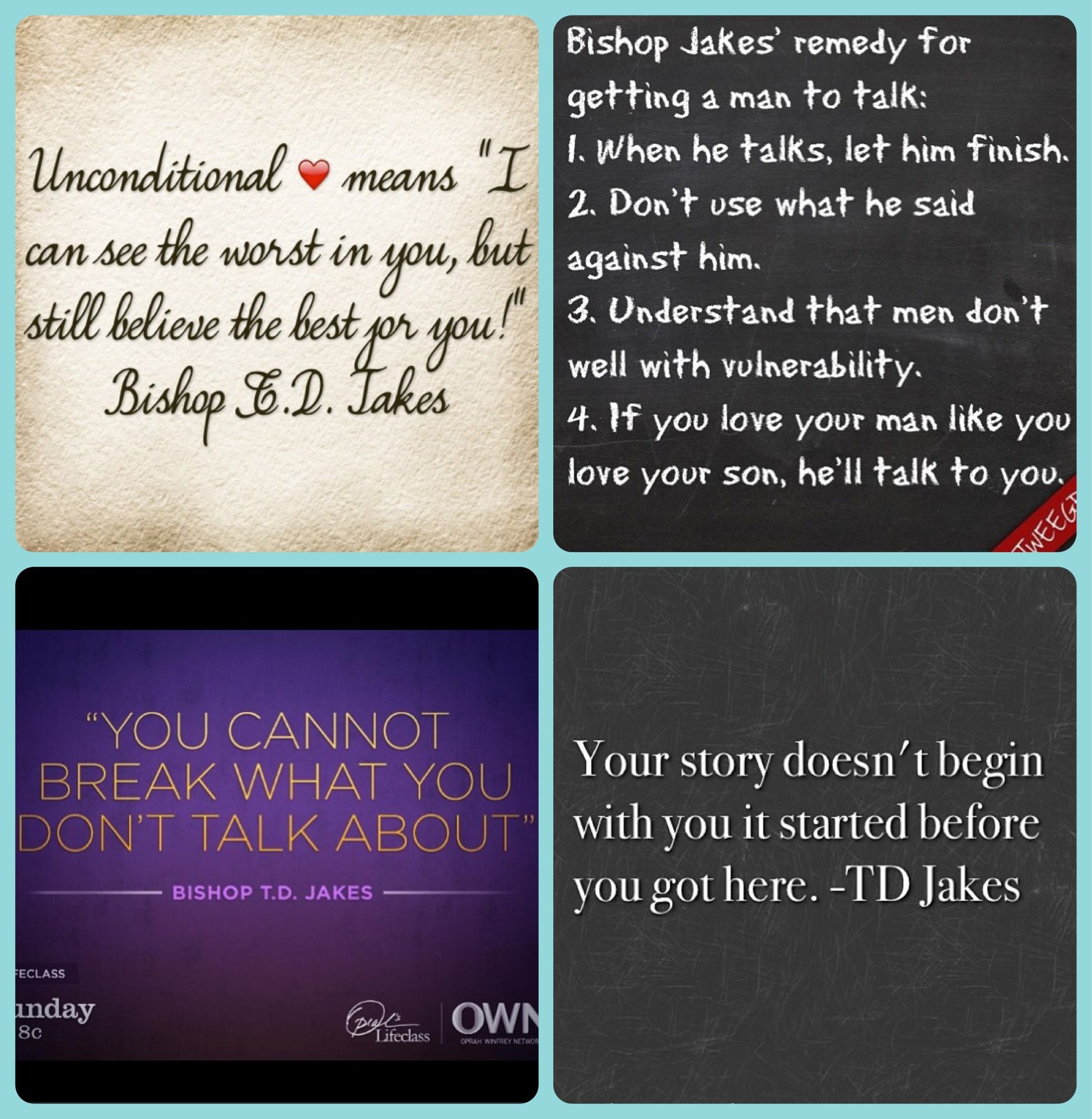 "Td Jakes Quotes On Life Notes From ""life Class Fatherless America"" With Oprah & T.d."