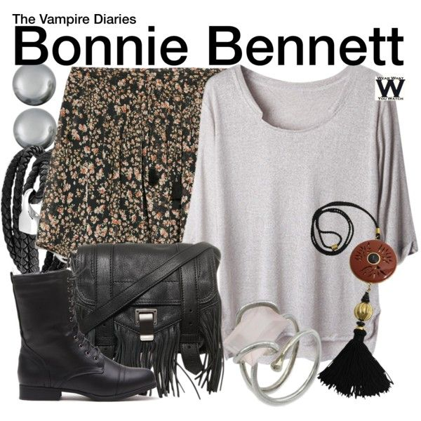Inspired by Kat Graham as Bonnie Bennett on The Vampire Diaries.