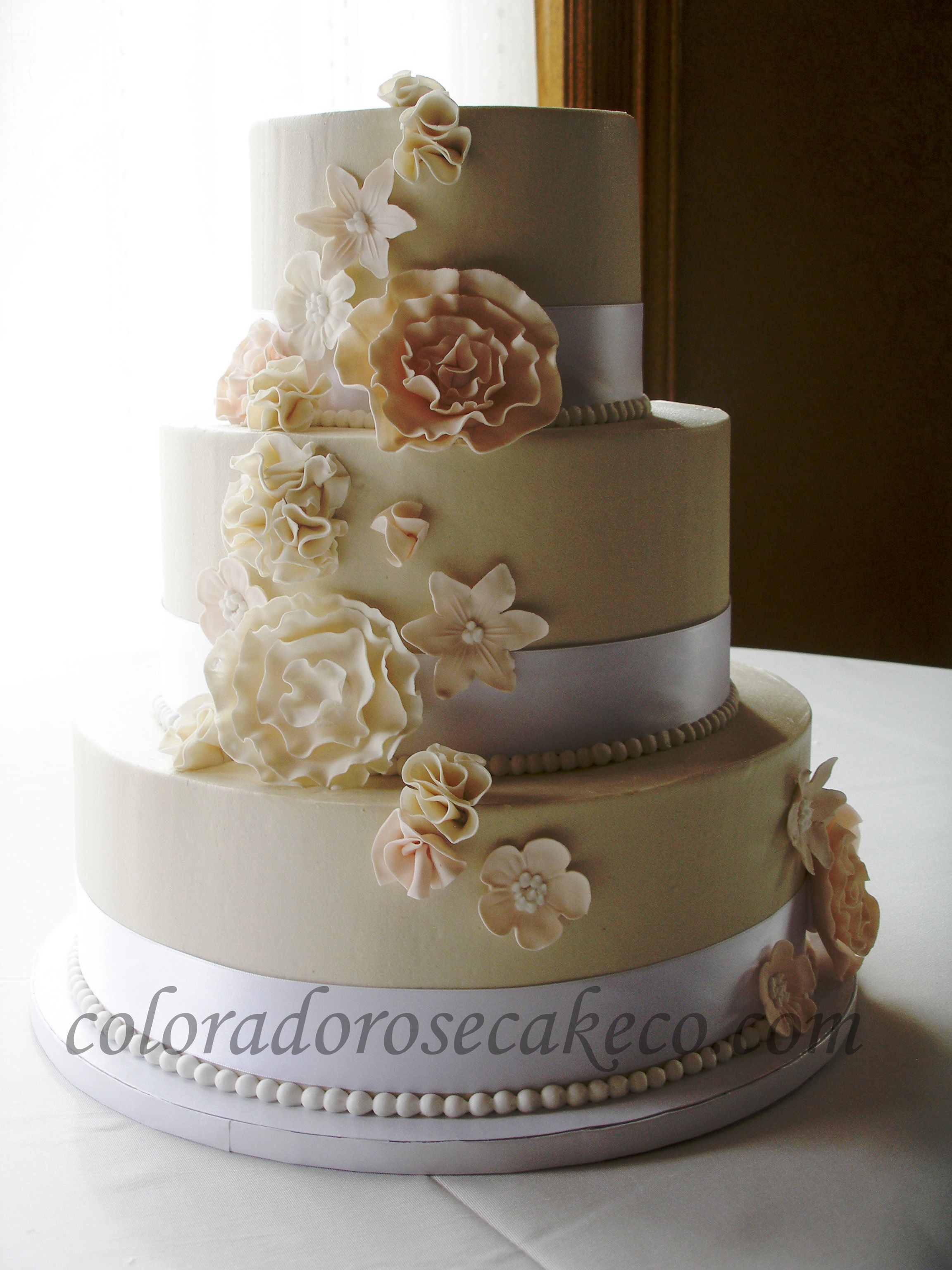 Cake Colorado Rose Co Estes Park Wedding