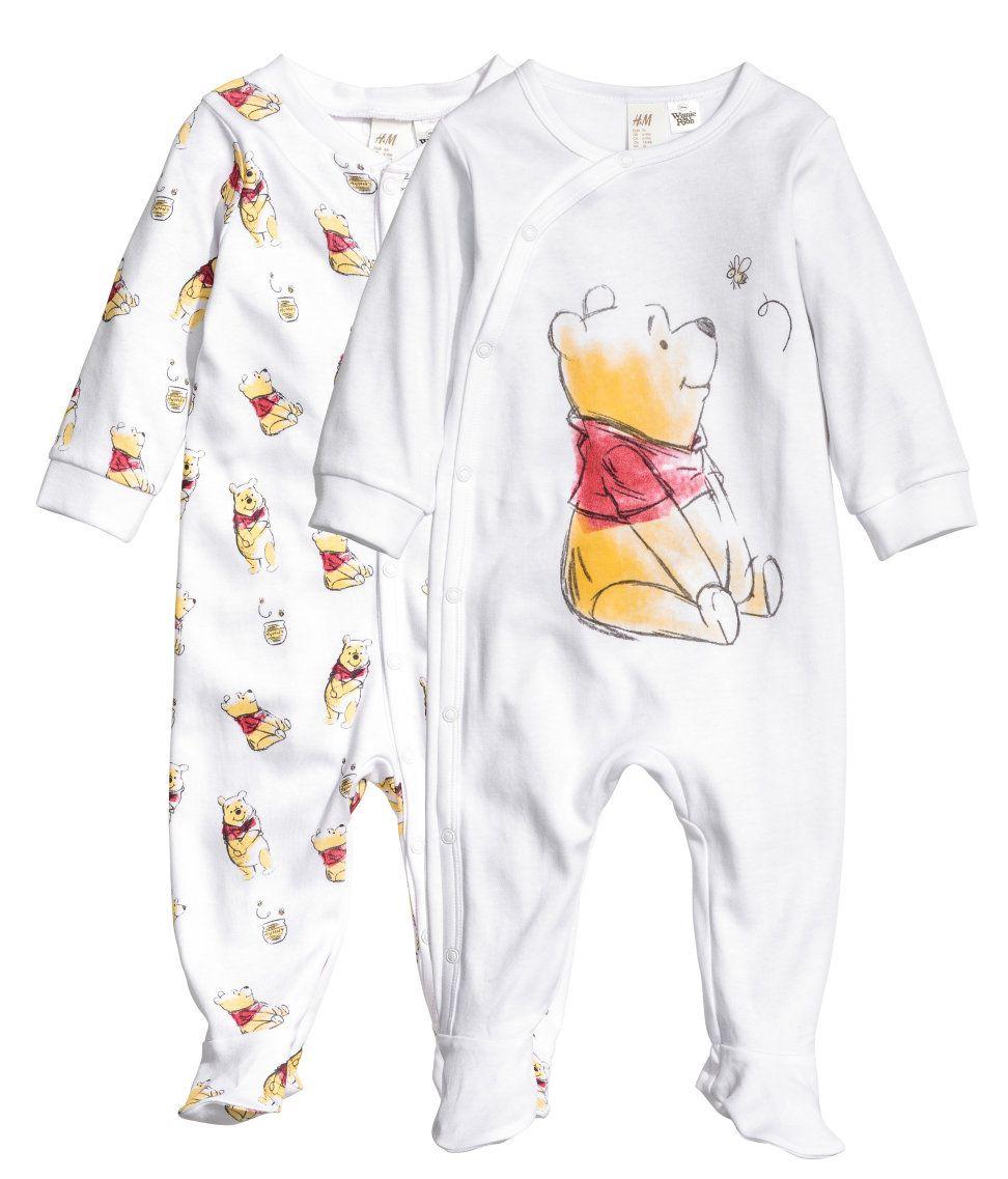 2er pack pyjamas wei pu der b r kinder h m de. Black Bedroom Furniture Sets. Home Design Ideas