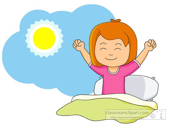 girl waking up and stretching in the morning classroom clipart rh pinterest com morning clipart images morning clip art for morning