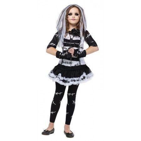 Monster Bride Child Fancy Dress Costume