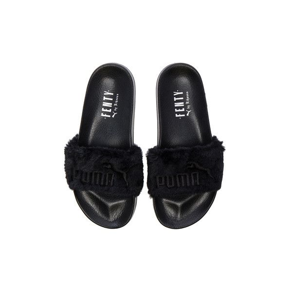 more photos f8328 e9546 Fenty by Puma Leadcat Faux Fur Slide Sandals ❤ liked on ...