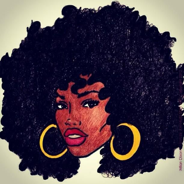 White Artist With Afro Galleries Black And White Afro Art Natural