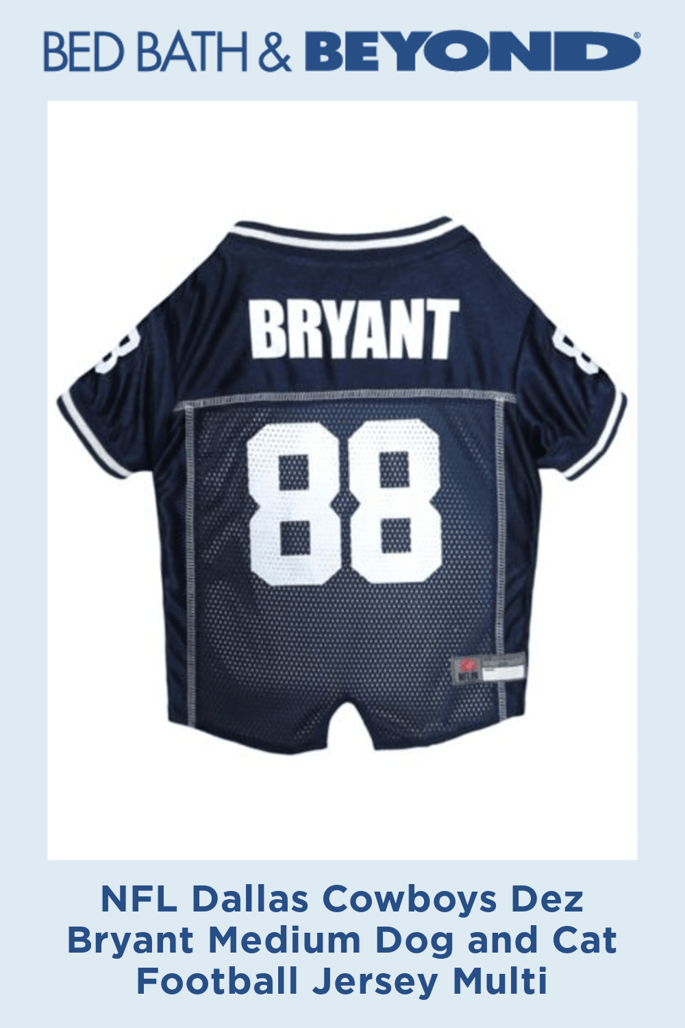 NFL Dallas Cowboys Dez Bryant Medium Dog and Cat Football Jersey Multi #dezbryant