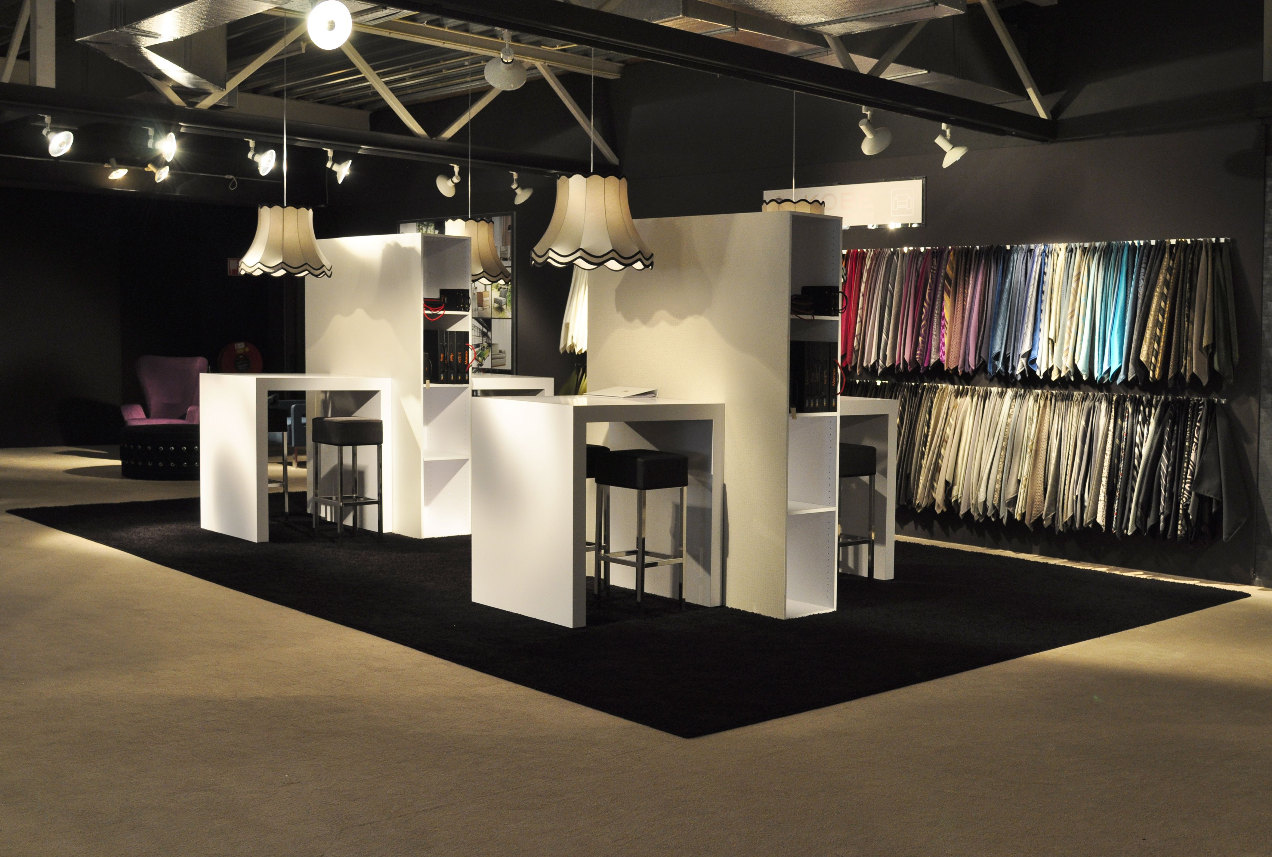 Upholstery Fabric Display And Work Space In Kobe Showroom Fabric