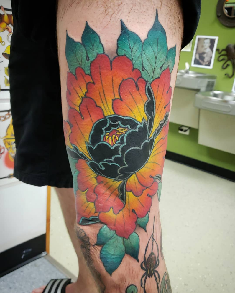 """By hallertattoos """"Finally got to do a touch up for Marty"""
