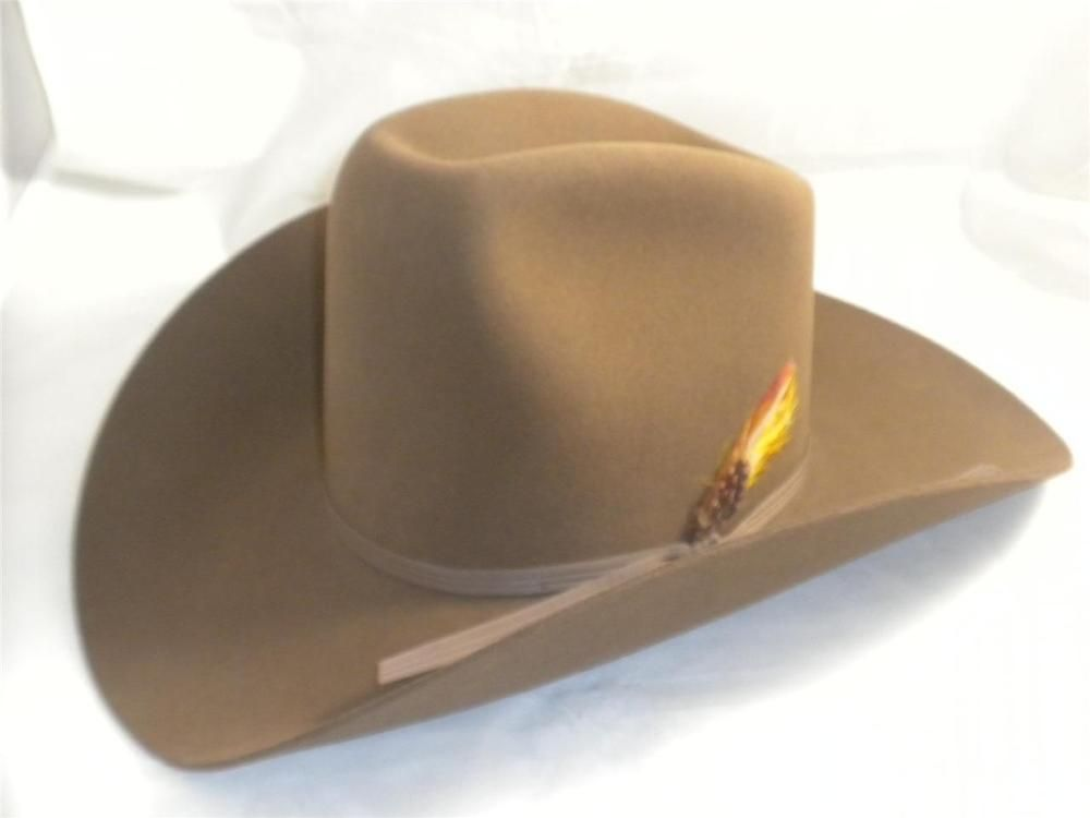 893eaf3a27a Chris Eddy Cowboy Hat Brown 85% Wool Durofelt Size 6 5 8 Eddy Bros ...