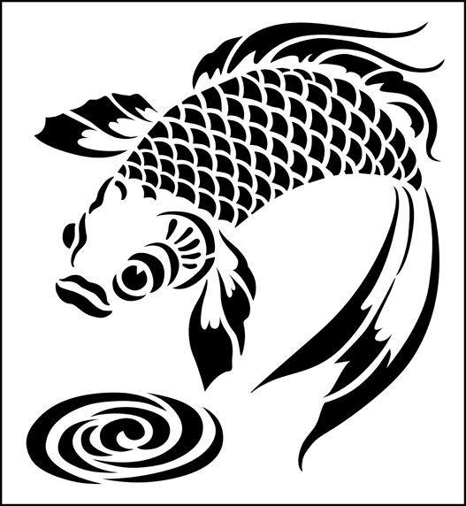 Fisch schablone aus der schablone bibliothek schablone it for Koi fish stencil