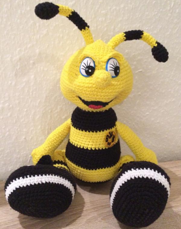 Biene Emma Häkeln Spielzeug Pinte