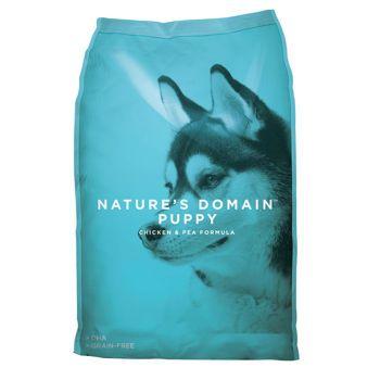 Nature S Domain Puppy Chicken Pea Formula 20lb Bag Puppy Food Grain Free Dog Food Brands