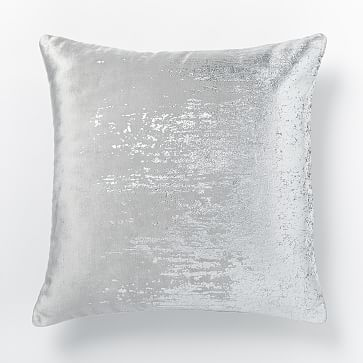 Faded Metallic Texture Pillow Cover Silver Pillow Decorative Bedroom Pillow Texture Silver Pillows
