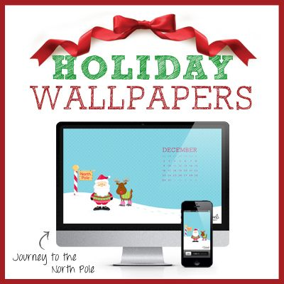 holiday wallpapers Journey to the North Pole Cubeland Flair