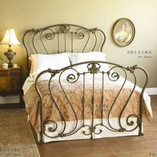 Best American Country Home Cozy Wrought Iron Beds Double Bed 640 x 480