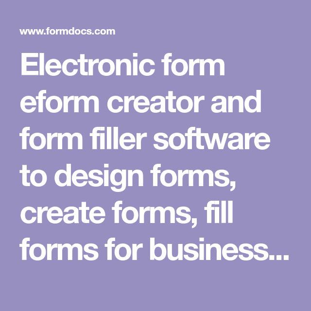 Is A Purchase Order A Legal Document Electronic Form Eform Creator And Form Filler Software To Design .