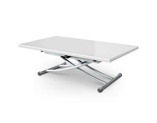 Xl LaquéHome Carrera Blanc Table Relevable Basse Inspirations trChdxsQ