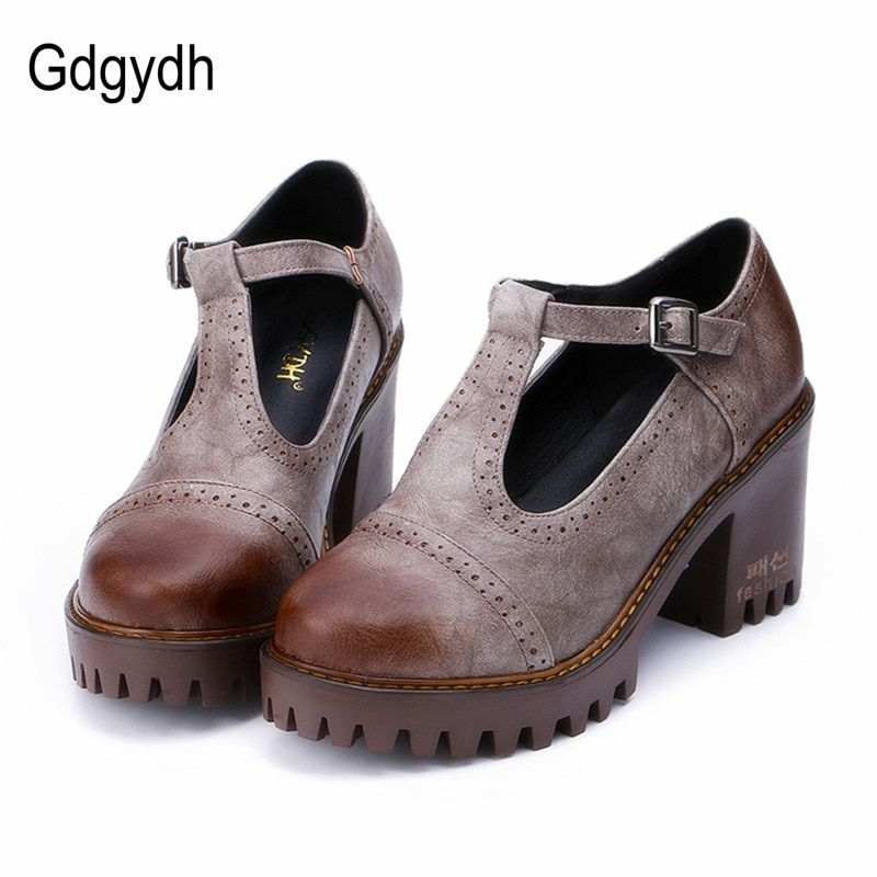 d3a20f597 2018 的 Gdgydh Fashion Leather Women Shoes High Heels 2018 New ...