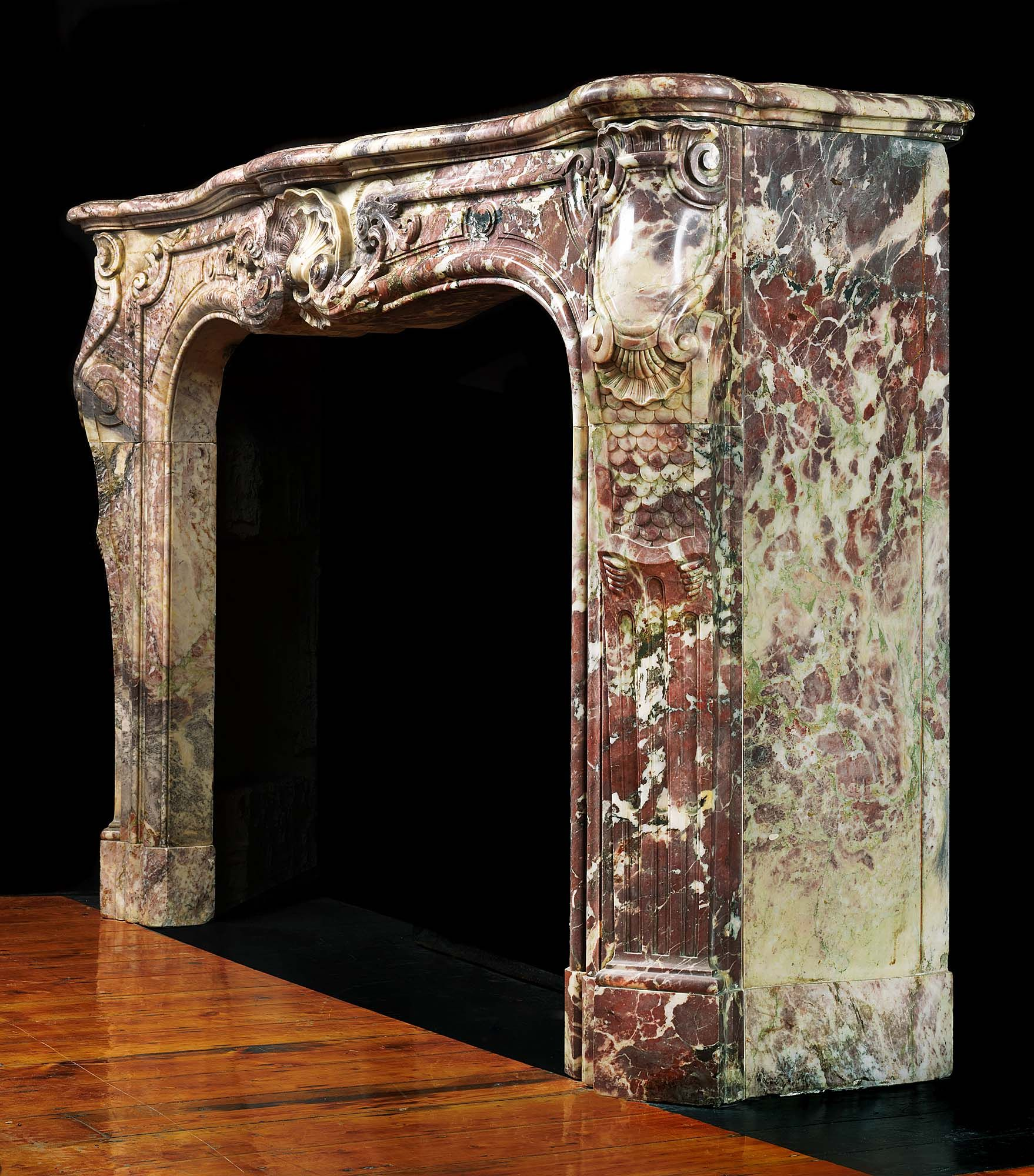antique marble fireplace mantels. A French Rococo Antique Marble Fireplace Mantel Rare Antique Breche Violette Marble Fireplace  Breche