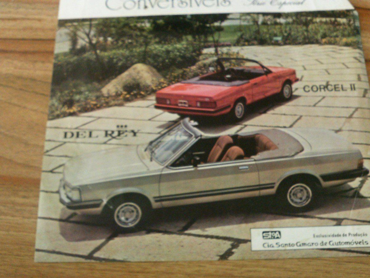 Brochura Original Corcel Ii Del Rey Conversiveis Santo Amaro