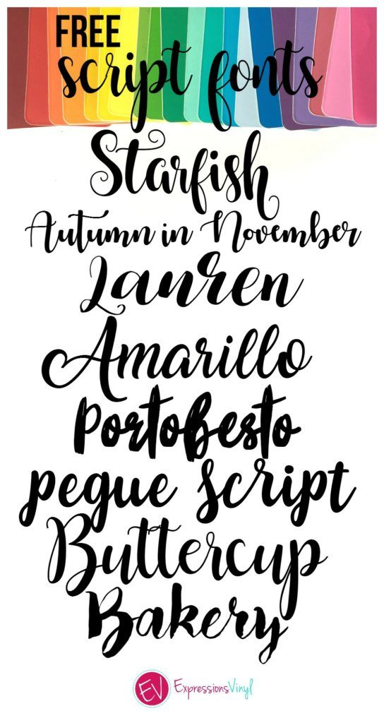Beautiful Free Script Font Roundup Silhouette Fonts Cricut