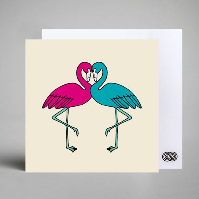 Flamingo Love Card  By: A Love Supreme
