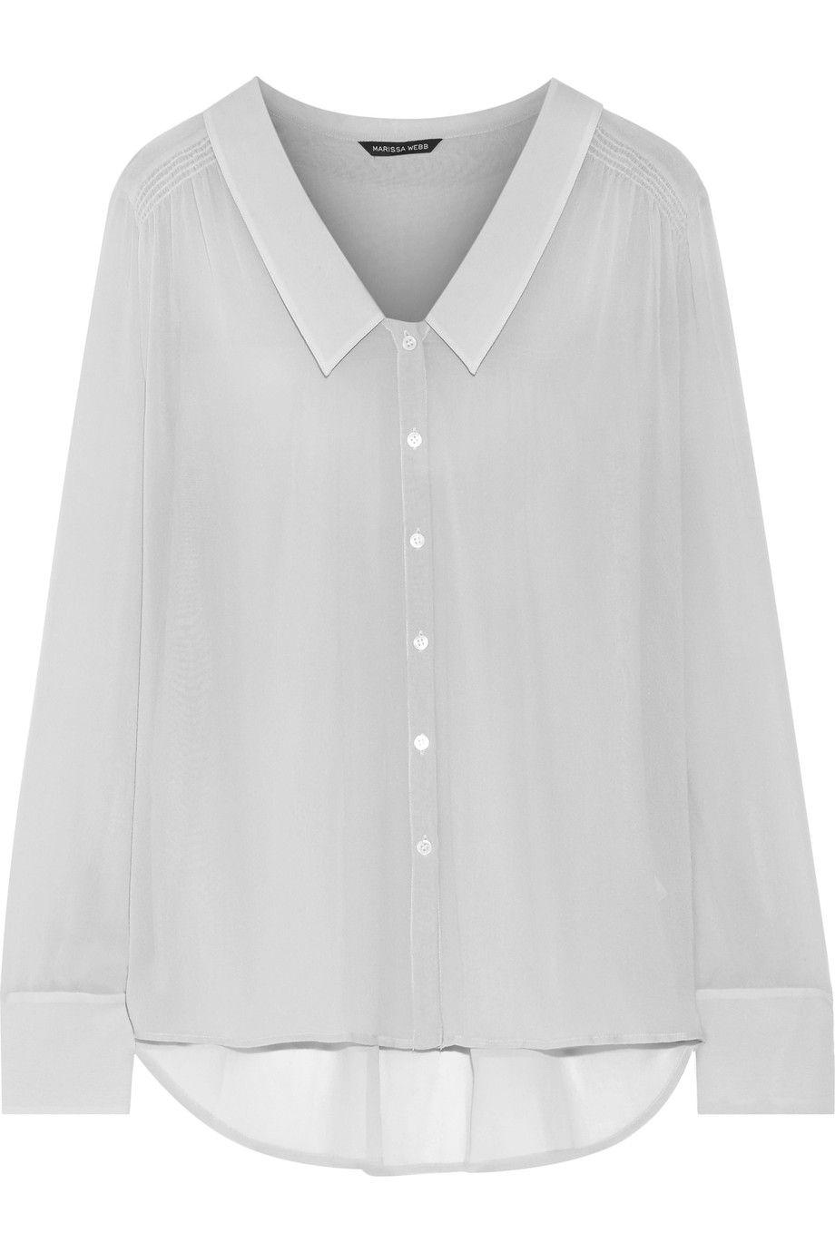 b7f02f6227be75 MARISSA WEBB Shania silk crepe de chine blouse.  marissawebb  cloth  blouse