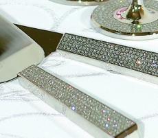 Diamond Cake Knife and Server Set