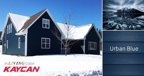 Urban Blue Vinyl Siding By Kaycan Color Inspiration In