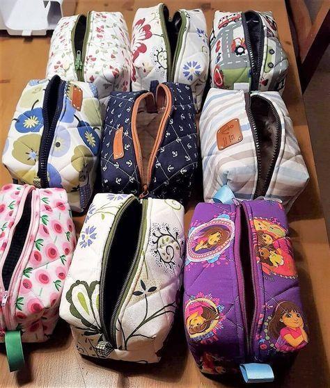 Boxy Bag - Kosmetiktasche nähen | Sie ist, Schnittmuster und Einfach