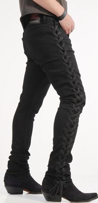 Vice Jeans Mens Side Lace Junkie Stretch Twill From Lip