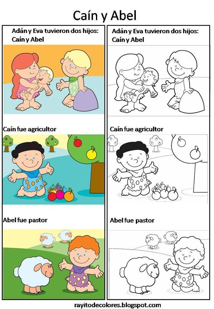 adan y eva para niños - Buscar con Google | adan y eva | Cain y abel ...