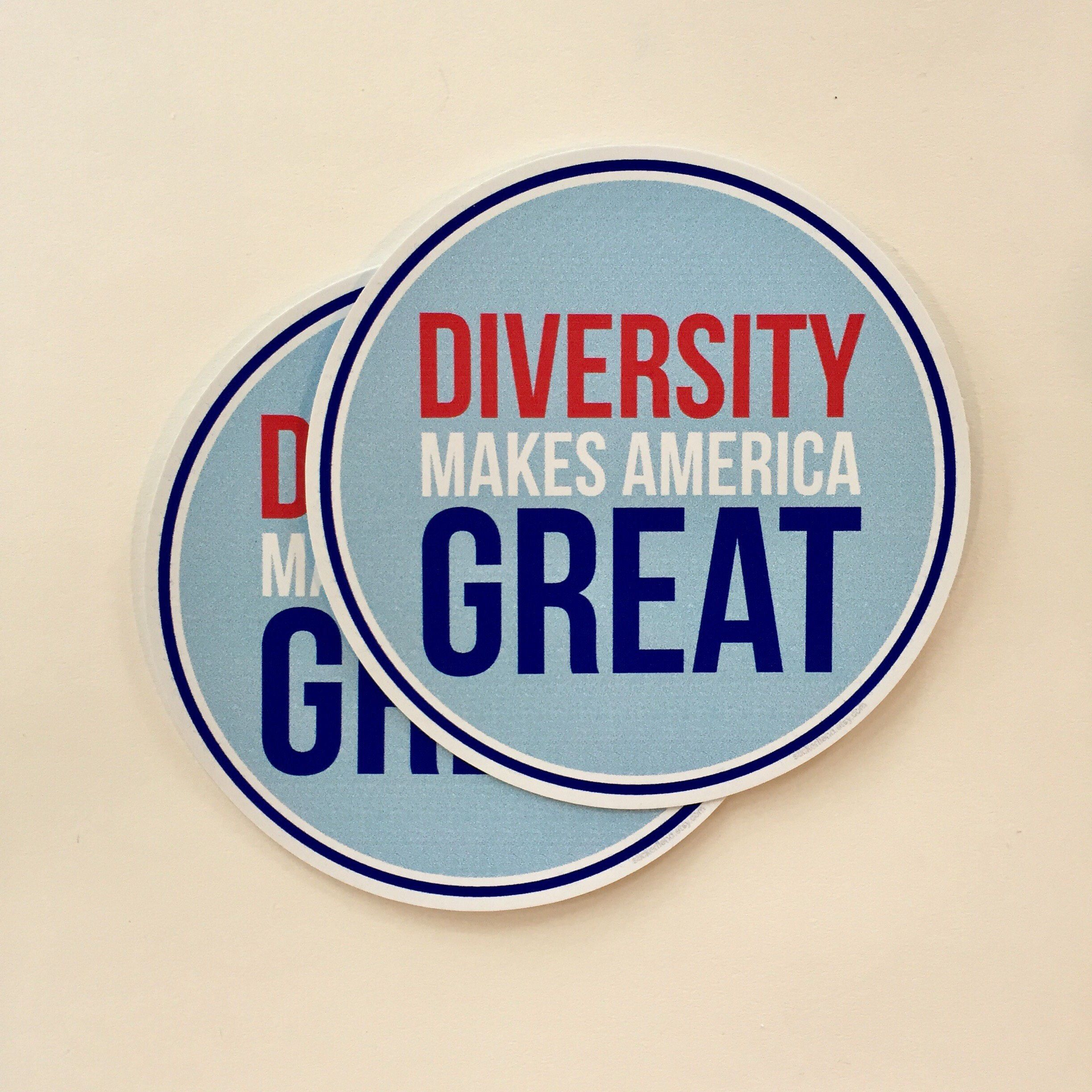 Diversity makes america great vinyl bumper sticker laptop decal waterproof sticker laptop decal water bottle sticker