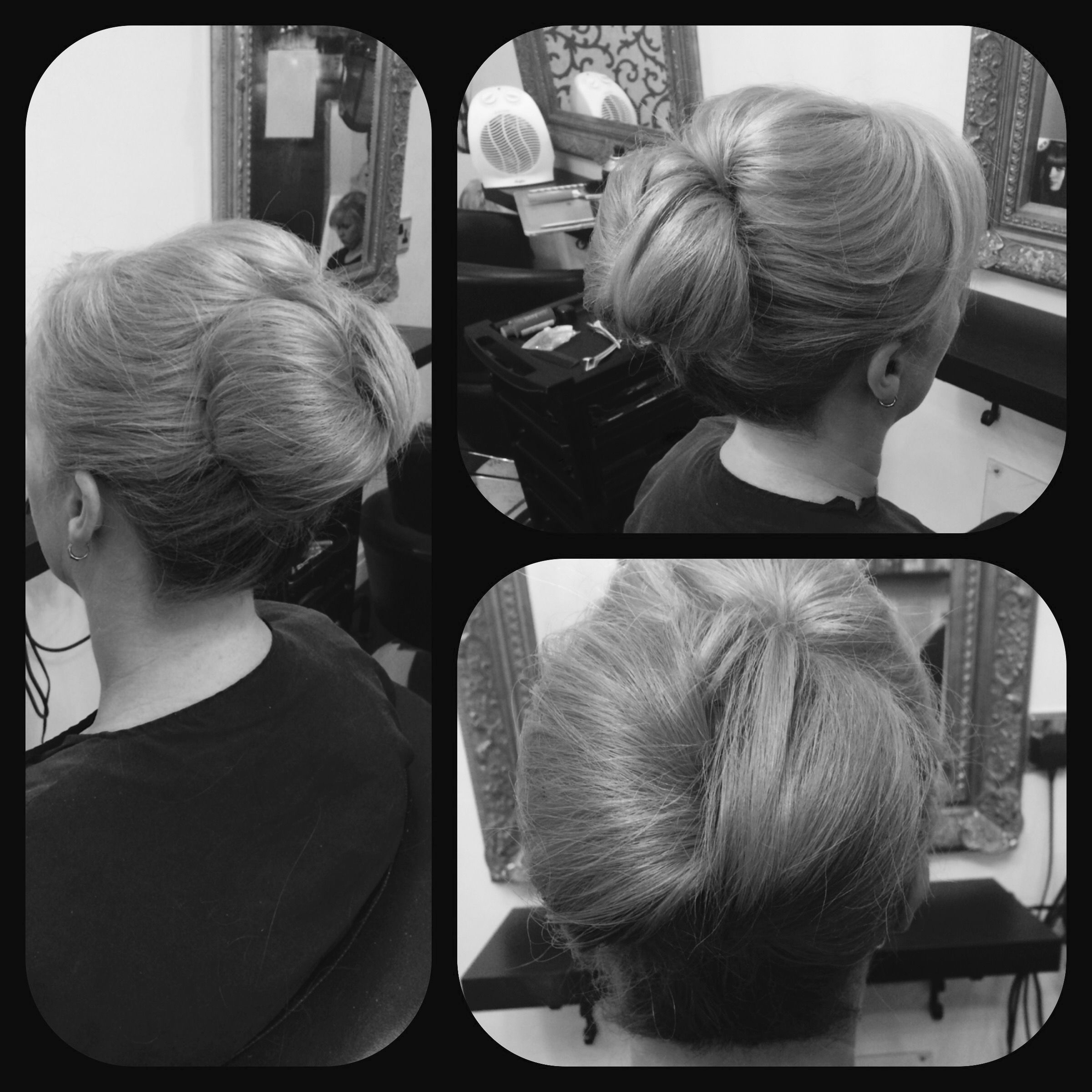 A simple up-do! Soft bouffant with a wrapped over bun!