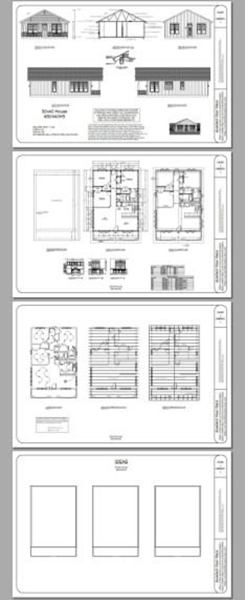 30x40 House 3 Bedroom 2 Bath 1 200 sq ft PDF Floor Plan Instant Download Model 3