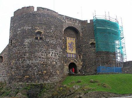 Carrickfergus Castle..under restoration.