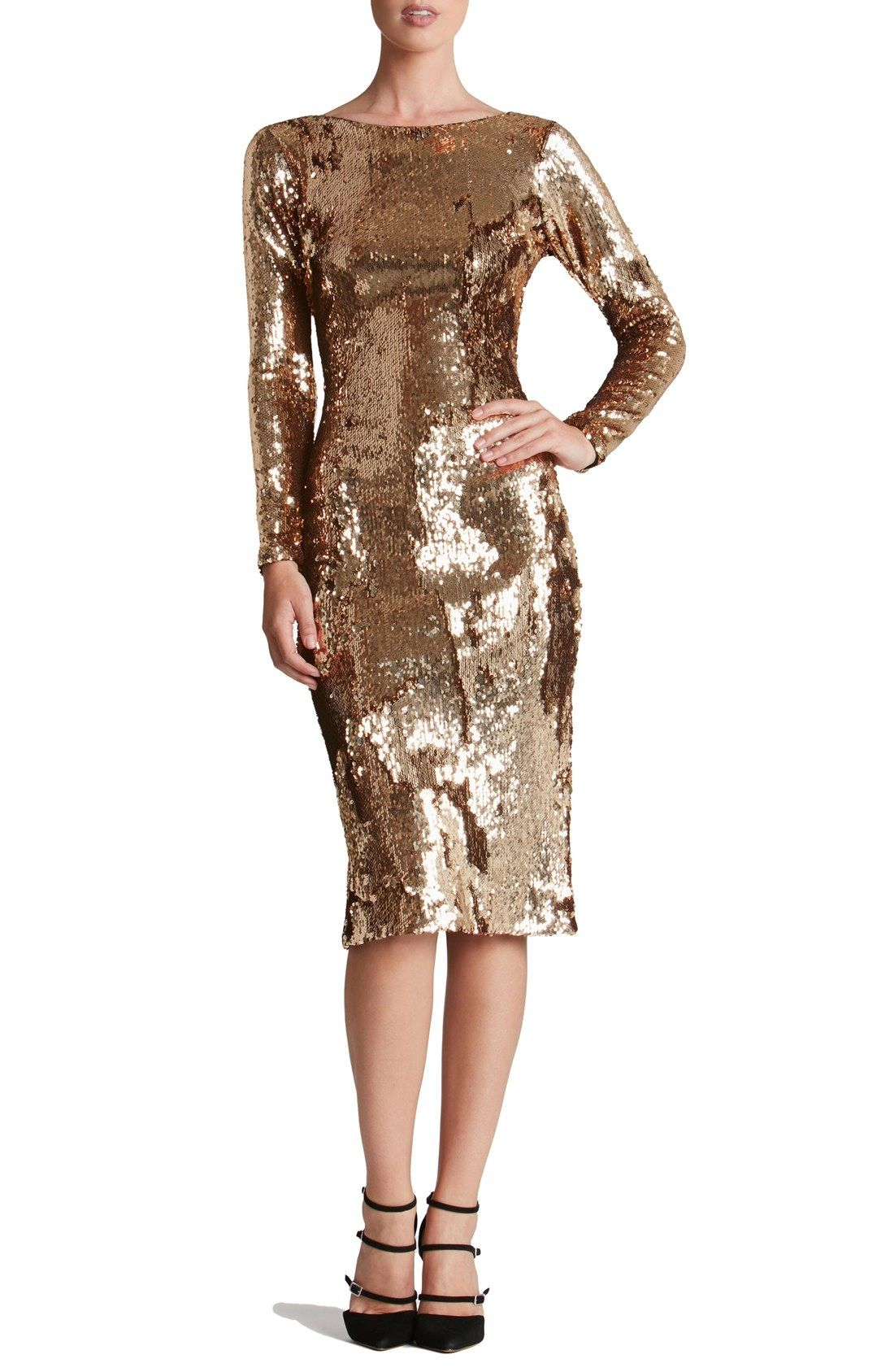 Dress the Population Emery Scoop Back Sequin Sheath Dress available ...