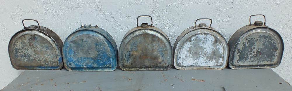 Lot Of 5 Vintage Boyco Running Board Gas Oil Cans Ford Model T