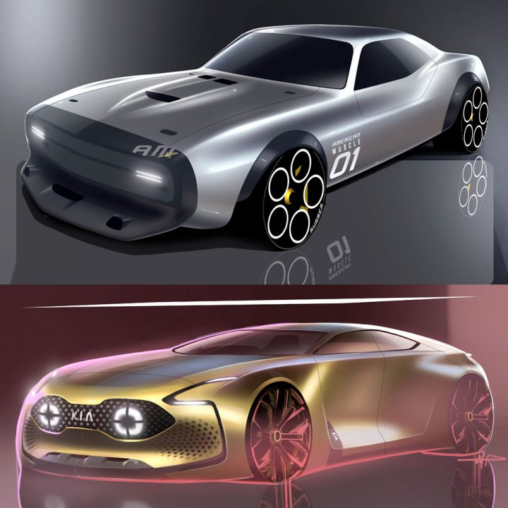 Concept Design Sketch Renders by Mark Przeslawski #conceptcars