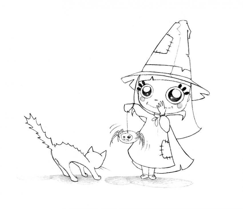 Llega Halloween !!. Dibujos para colorear - Escuela en la nube ...