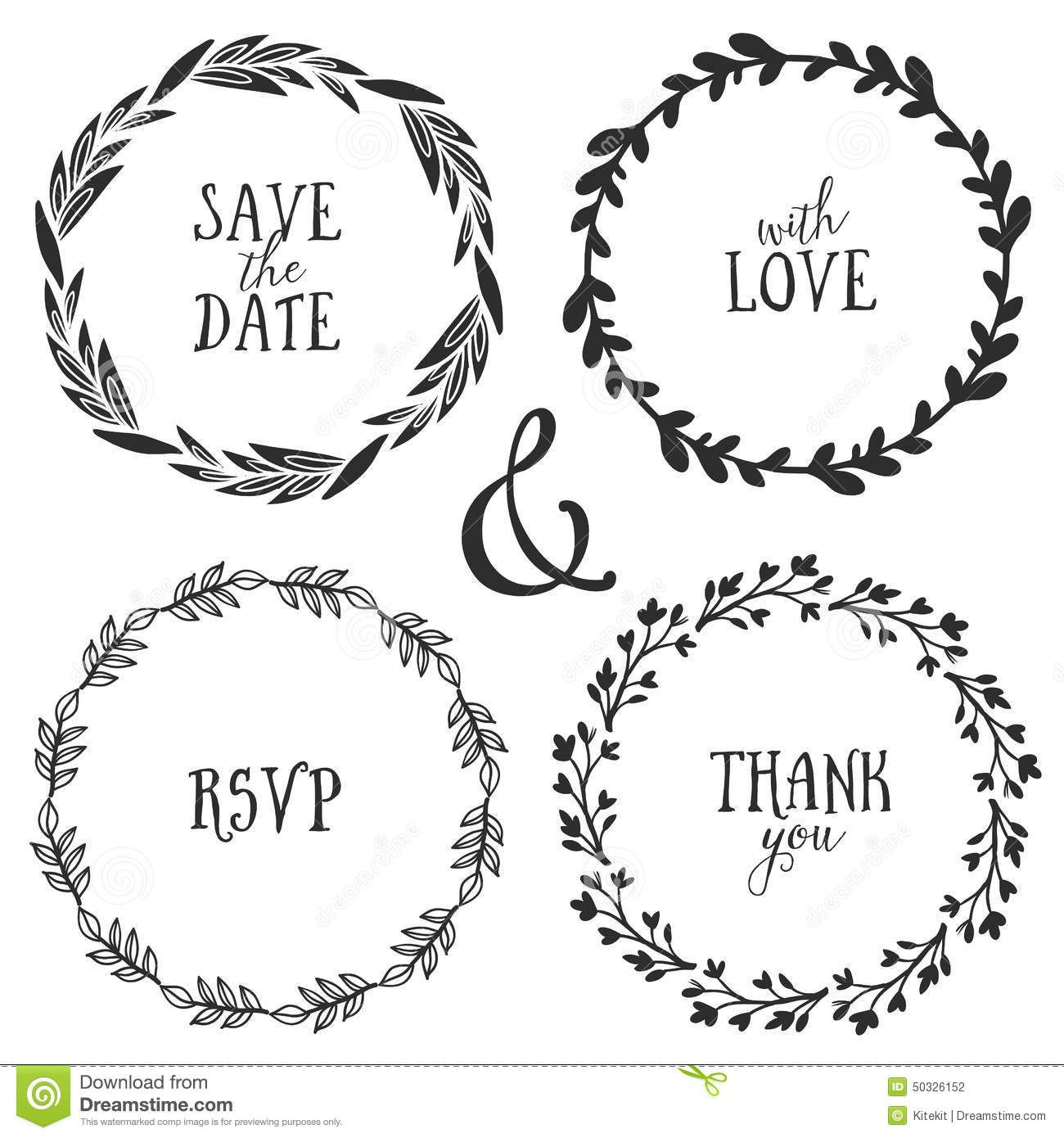 Hand Drawn Rustic Vintage Wreaths Lettering Floral Vector Graphic Nature Design Elements 50326152 Jpg 1300 13 How To Draw Hands Wreath Clip Art Vintage Wreath