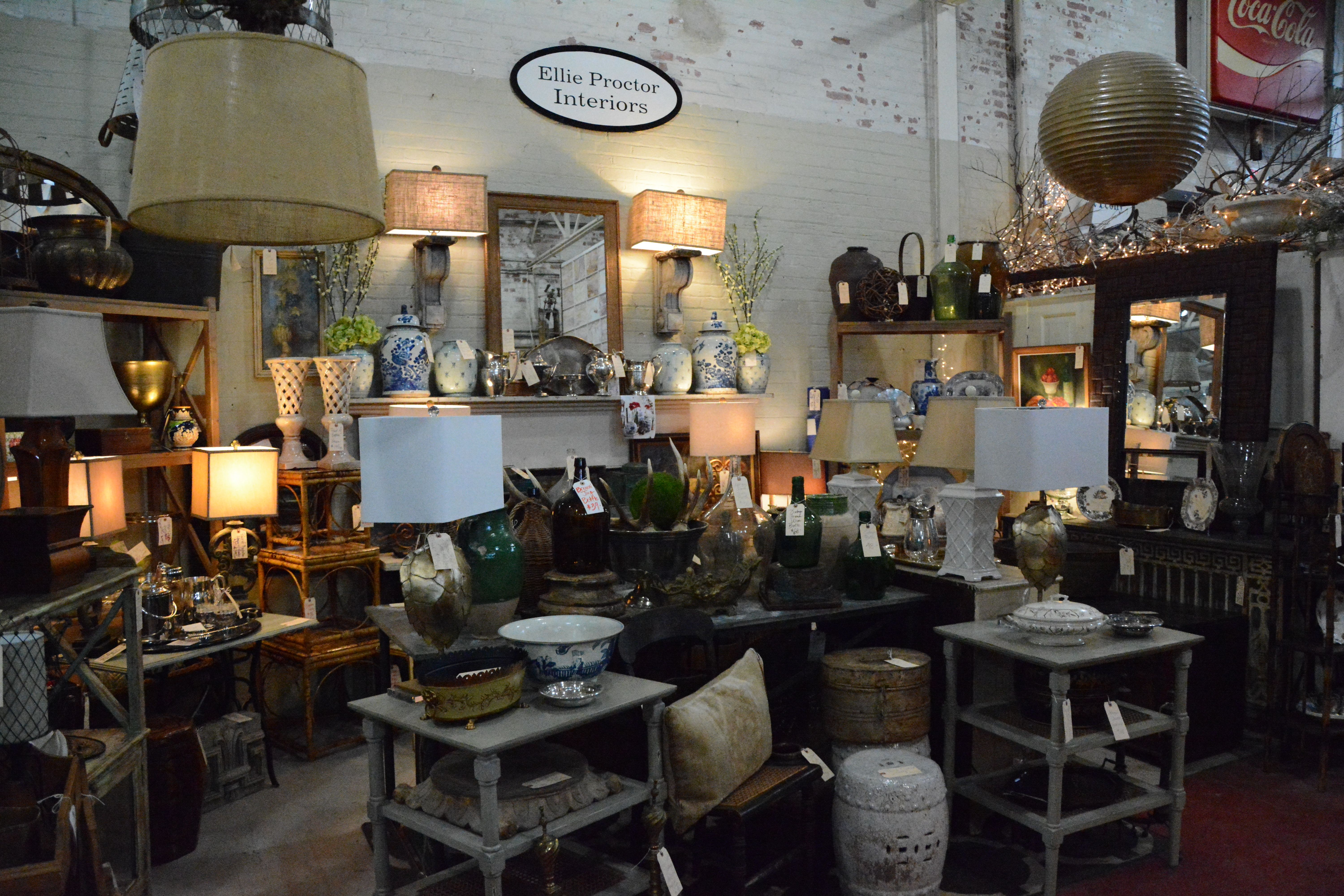 Ellie Proctor Interiors vendor booth at the Black Dog Salvage